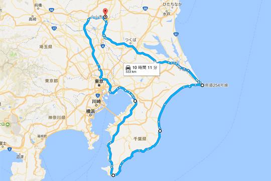 房総一周MAP